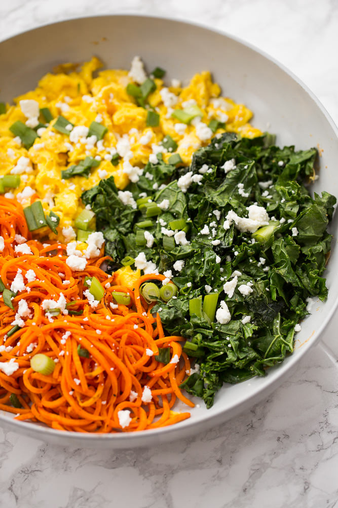 Spiralized Carrot, Healthy food, yoga food, spiralize dinner